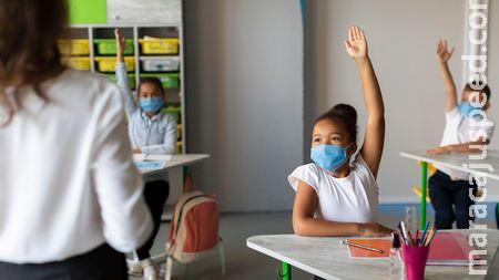 Em Sidrolândia alunos da rede municipal recebem três máscaras e os pais devem orientar os filhos a não retirar o EPI
