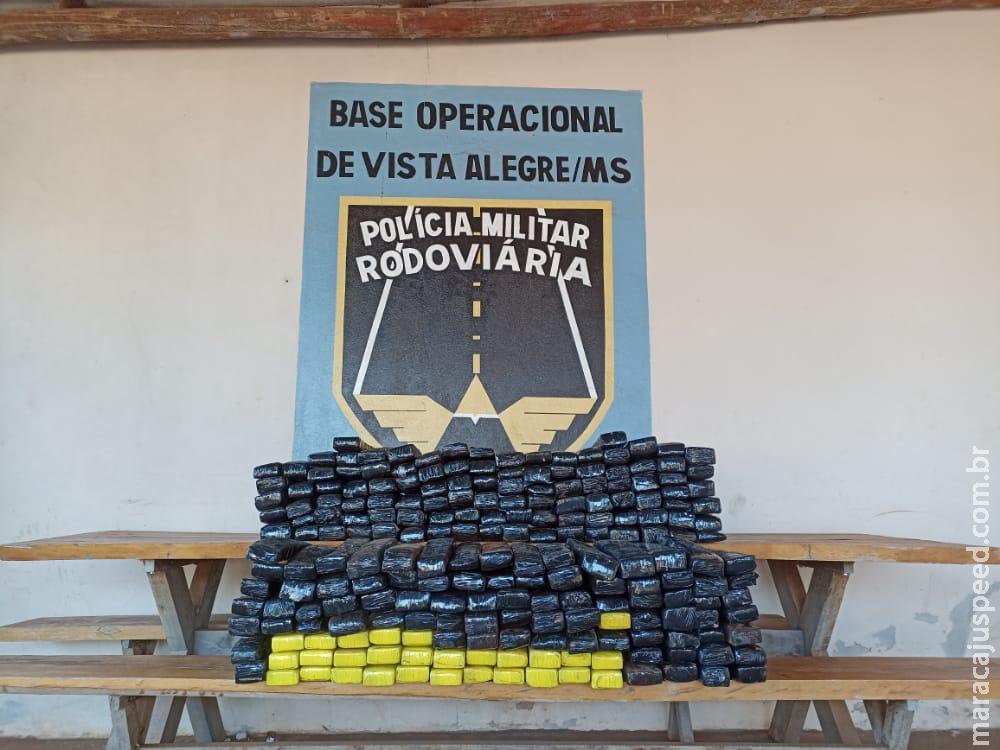 Maracaju: Polícia Militar Rodoviária apreendeu no fim da manhã de quarta-feira (28/07) 230,4 kg de maconha, durante Operação Hórus