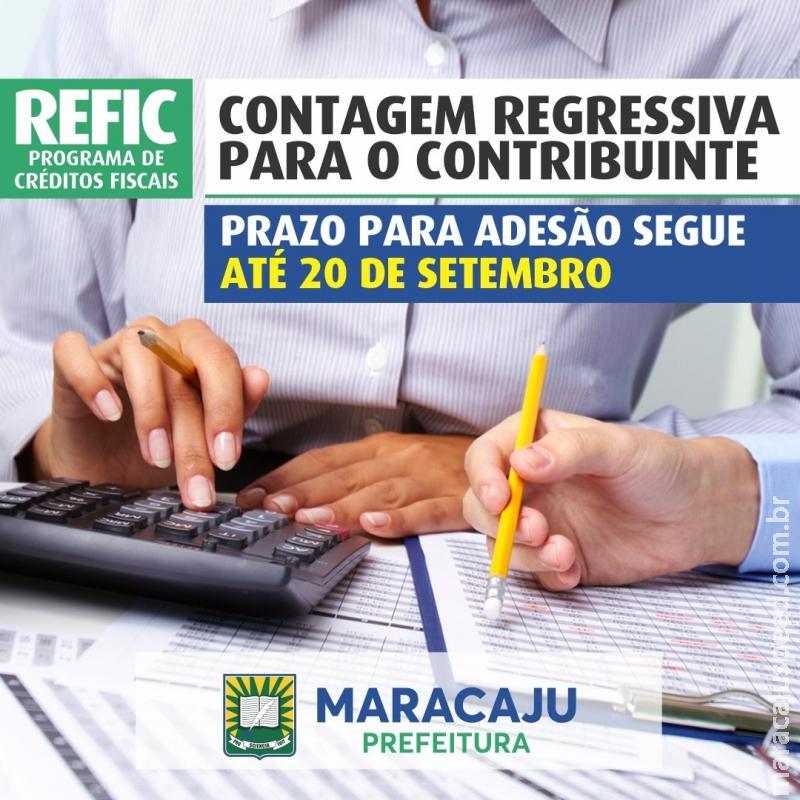 Contagem Regressiva: Prazo para adesão do Refic segue até dia 20 de Setembro