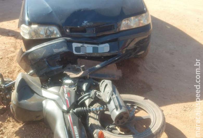 Motociclista tem parte da orelha arrancada após se envolver em acidente
