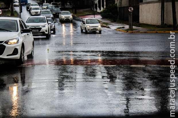 Alerta expõe risco de tempestades e granizo para MS