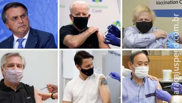 Bolsonaro é único líder do G20 sem vacina contra a covid-19