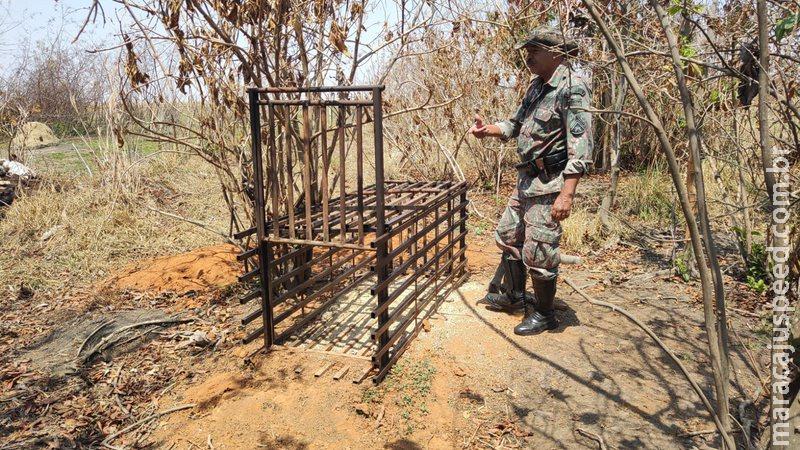 Caçador é autuado por captura e abate de animais silvestres e apreende armadilha