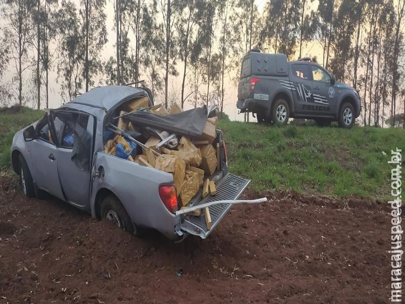 Camionete tomba com mais de uma tonelada de maconha e é apreendia pelo DOF durante a Operação Hórus