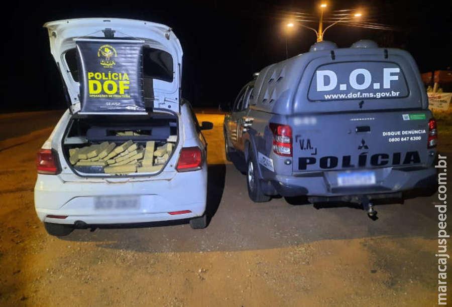 DOF apreende veículo com quase 400 quilos de maconha na MS-164