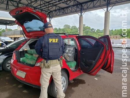 Homem é preso pela PRF após abandonar veículo com maconha e tentar fugir em Sidrolândia
