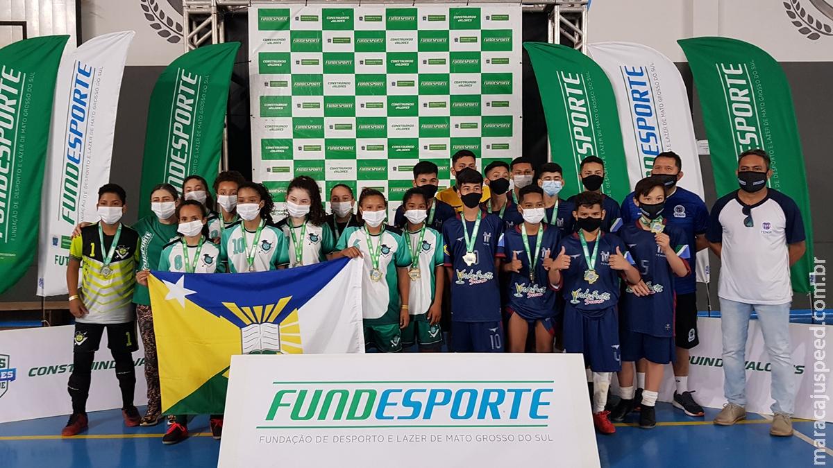 Maracaju desbanca favorita e é campeã do futsal feminino nos Jogos Escolares de Mato Grosso do Sul