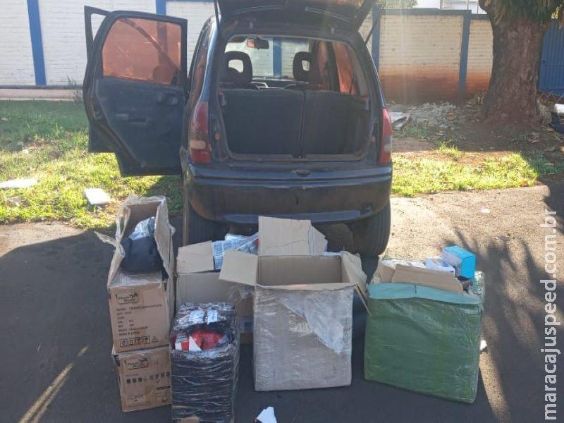 Maracaju: Polícia Militar apreende produtos oriundos do descaminho e contrabando
