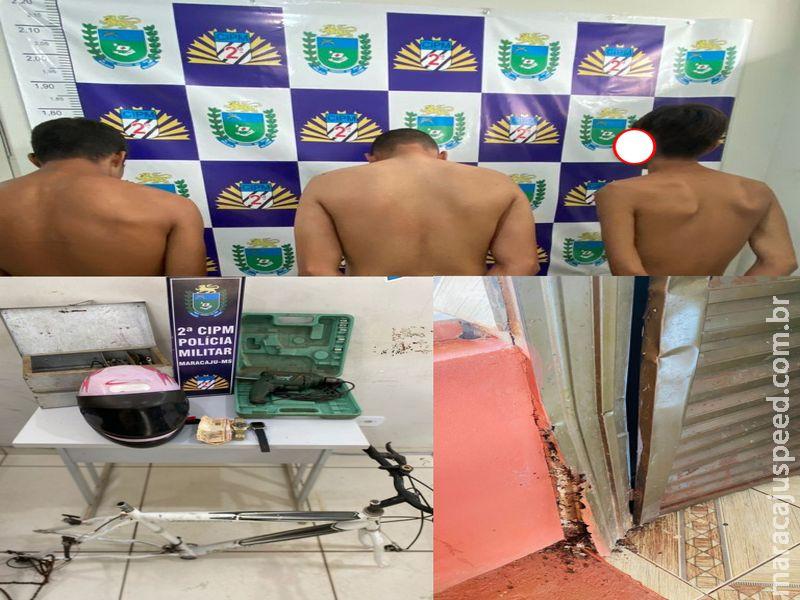 Maracaju: Polícia Militar deteve três indivíduos por furto e receptação no Conjunto Fotaleza 2