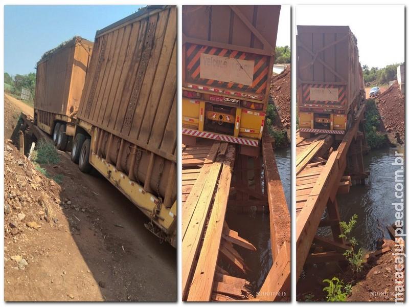 Maracaju: Ponte da estrada da Forquilha (MS-462) está danificada e produtores pedem manutenção a Agesul