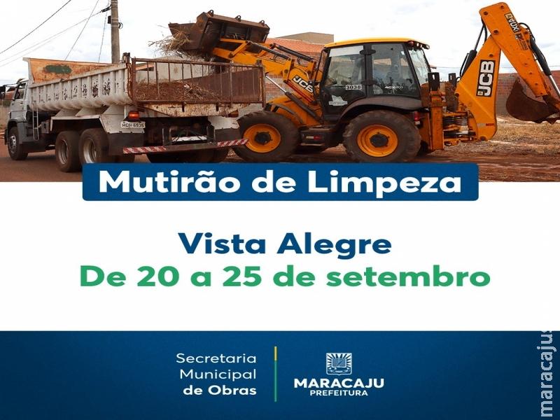 """Nova fase do """"Mutirão da Limpeza"""" começa hoje no Distrito de Vista Alegre"""