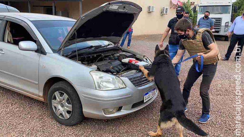 Polícia fecha entreposto de cocaína que funcionava em garagem na fronteira de MS