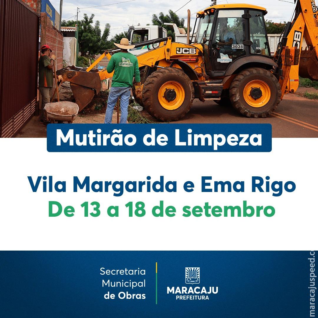 """Prefeitura de Maracaju iniciou nesta segunda-feira """"Mutirão da Limpeza"""", e destinará para os bairros caçambas para descarte de entulhos"""