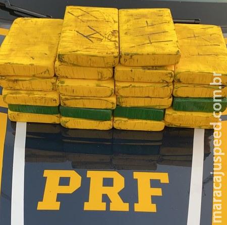 PRF apreende 23 Kg de cloridrato de cocaína em Nova Alvorada do Sul (MS)