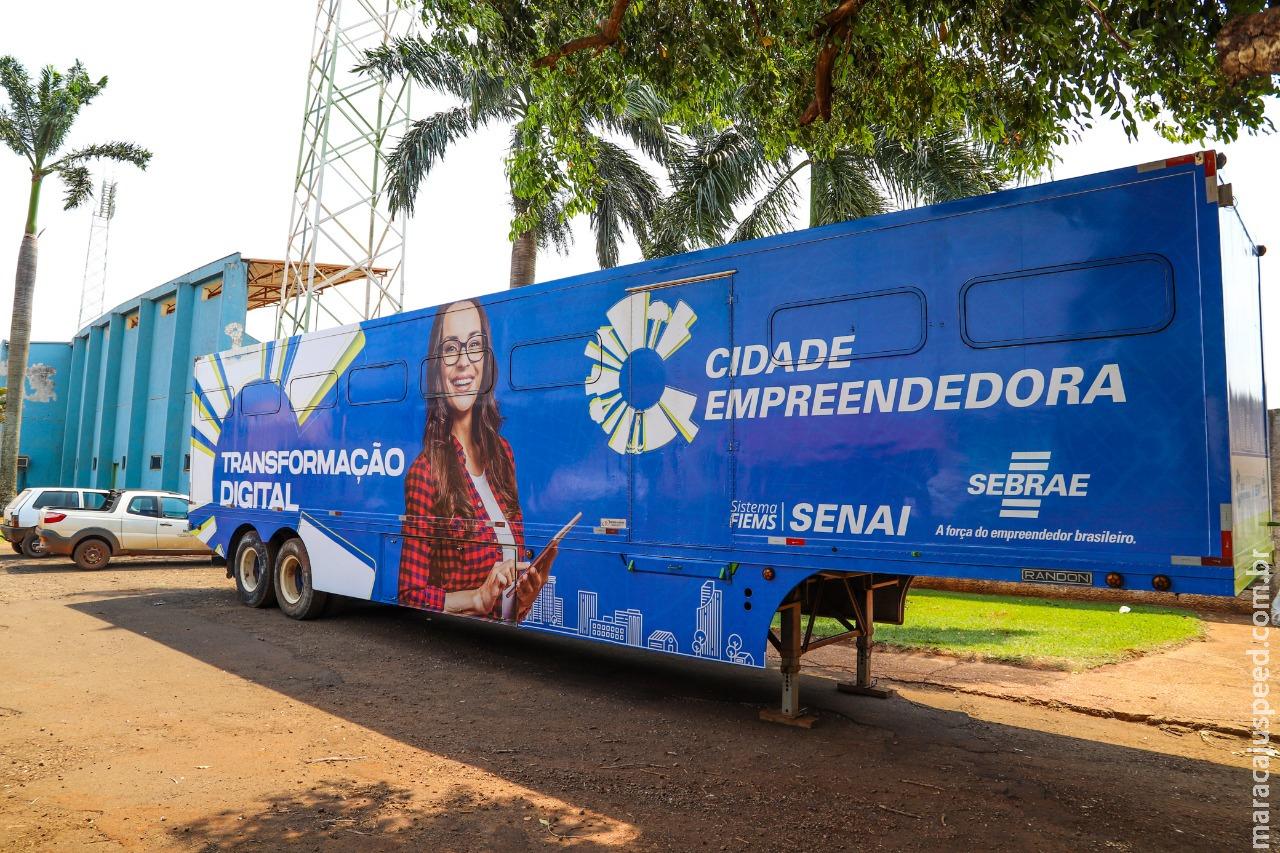 Programa Cidade Empreendedora oferece cursos em unidades móveis bem equipadas, para população maracajuense