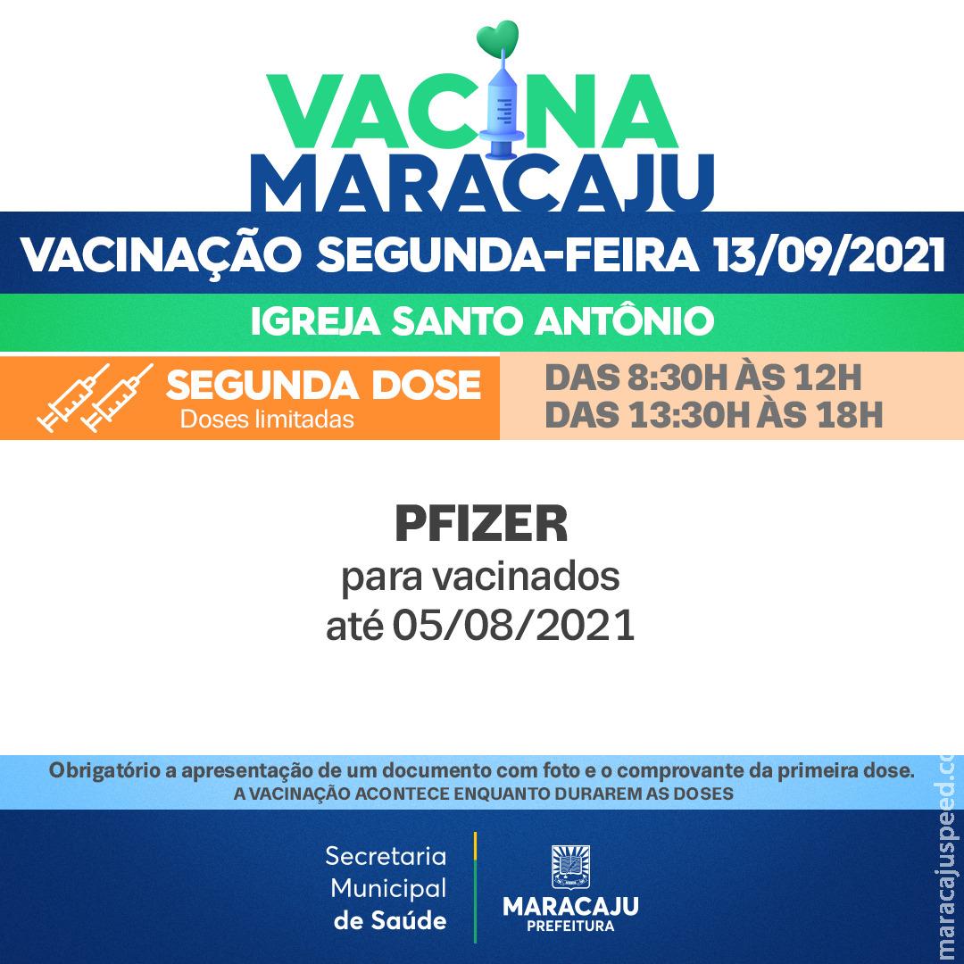 Vacinação: Saiba quais os públicos que irão se vacinar nesta segunda-feira (13)