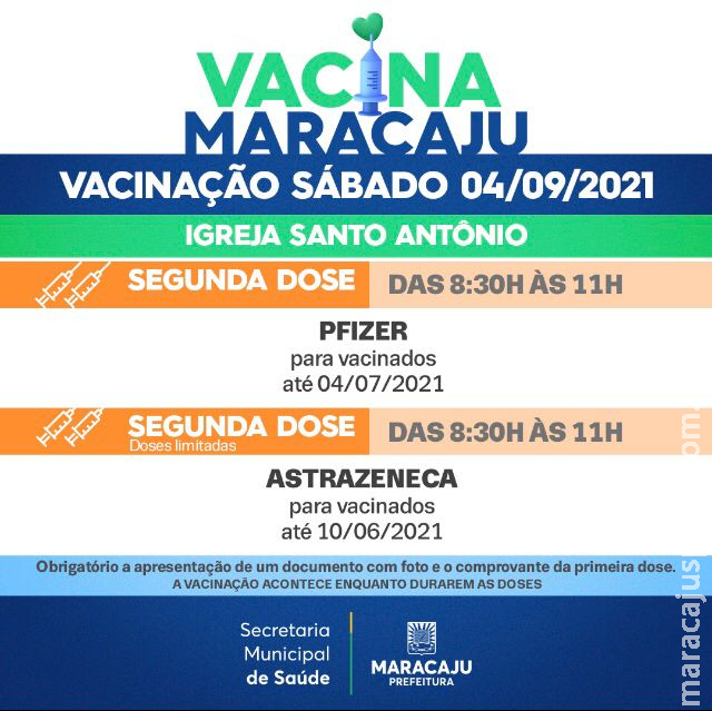Vacinação: Saiba quais os públicos que irão se vacinar neste sábado (4)