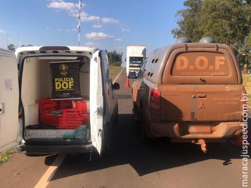 Veículo com mais de 200 quilos de maconha foi apreendido pelo DOF durante a Operação Hórus