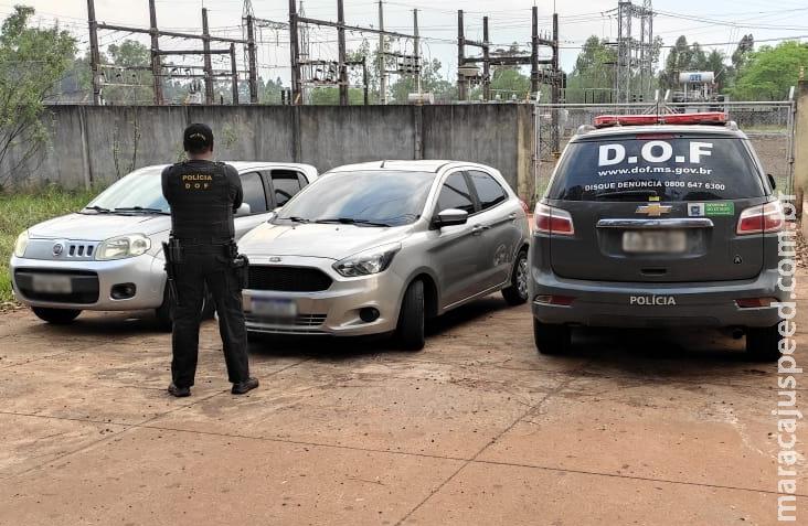 Veículo furtado em Minas Gerais foi recuperado pelo DOF durante a Operação Hórus