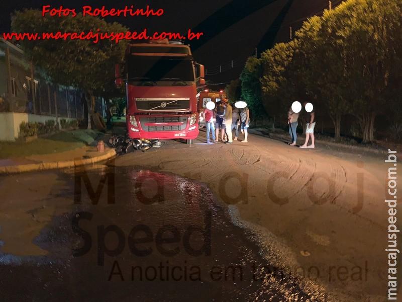 Maracaju: Corpo de Bombeiros atendem ocorrência no Bairro Alto Maracaju, onde Carreta Bitrem desce por cima de homem