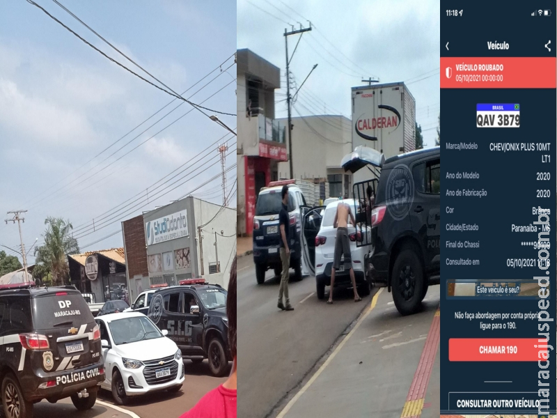 Maracaju: Polícia Civil de Maracaju prende em flagrante quatro suspeitos de roubo de veículo ocorrido na cidade de Paranaíba
